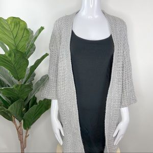 Romeo & Juliet Couture Gray Chunky Knit Cardigan M